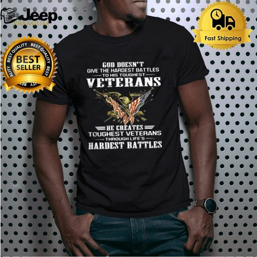 God doesn't give the hardest battles to his toughest veterans eagle quote shirt 5